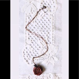 Swarovski Glitter Rose Necklace